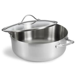 Contemporary 8 Qt. Stainless Dutch Oven with Cover