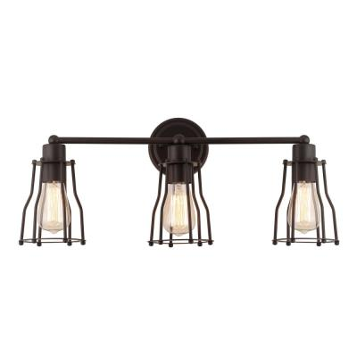 Florence 24 in. 3-Light Metal Oil Rubbed Bronze Vanity Light