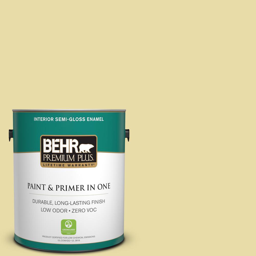 BEHR Premium Plus 1-gal. #P350-3 Green Charm Semi-Gloss Enamel Interior Paint