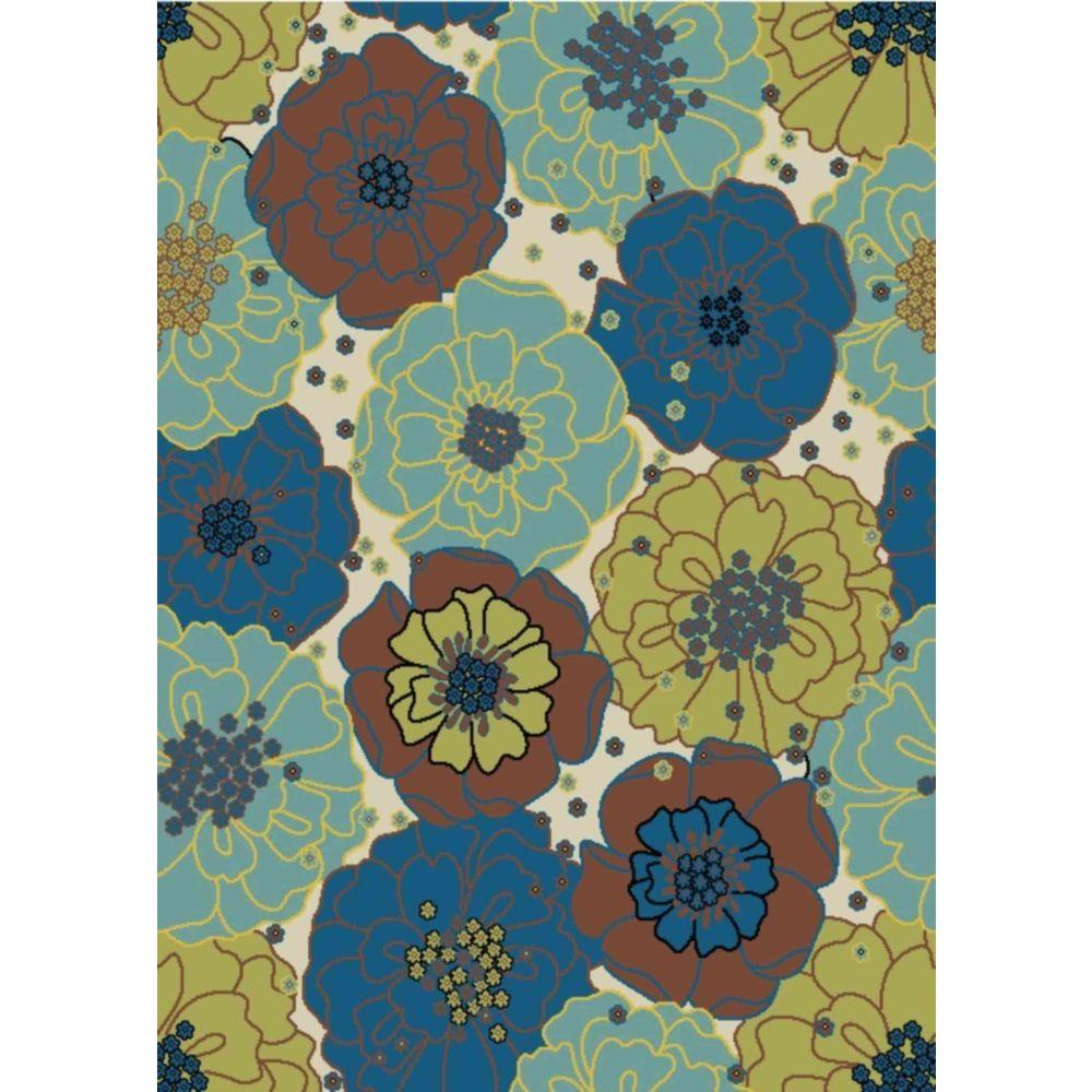 Home & Garden Chrysanthemum Light Blue 7 ft. 9 in. x