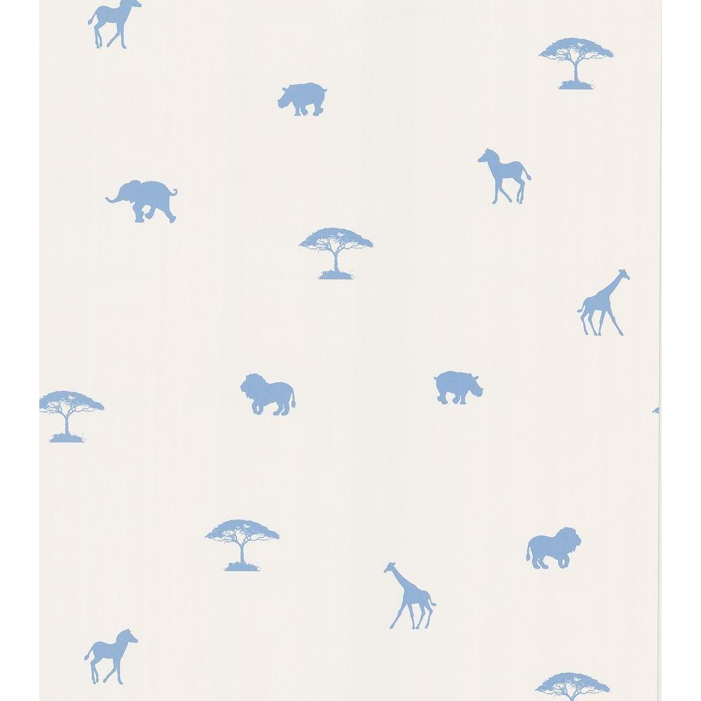 Blue Animal Spot Wallpaper Sample