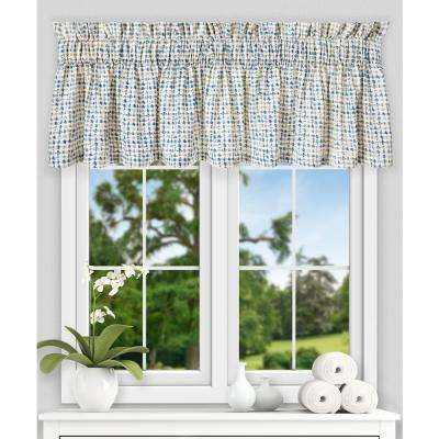 Davins 15 in. L Cotton Twill Tailored Valance in Blue