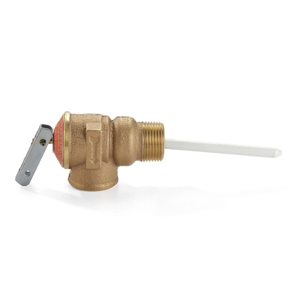 Zurn 1 In Brass Temperature And Pressure Relief Valve