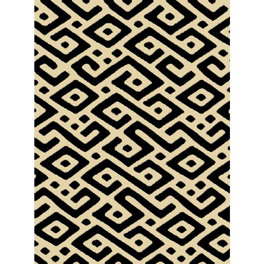 Natco Radiance Ashante Black 7 ft. 10 in. x 10 ft. 10 in. Area Rug-DISCONTINUED