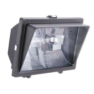 300-Watt Or 500-Watt Quartz Outdoor Halogen Bronze Visored Floodlight