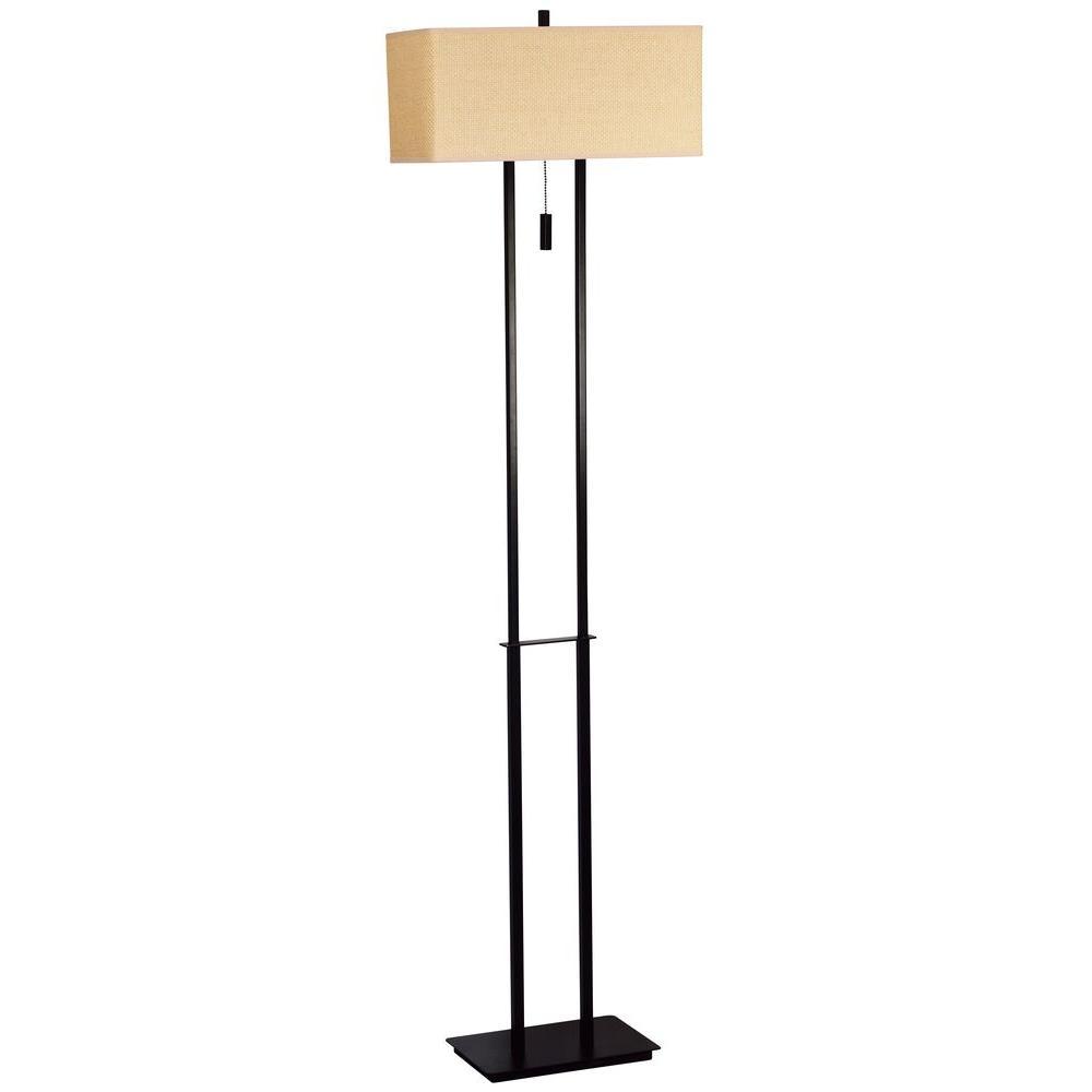 Emilio 60 in. Bronze Floor Lamp