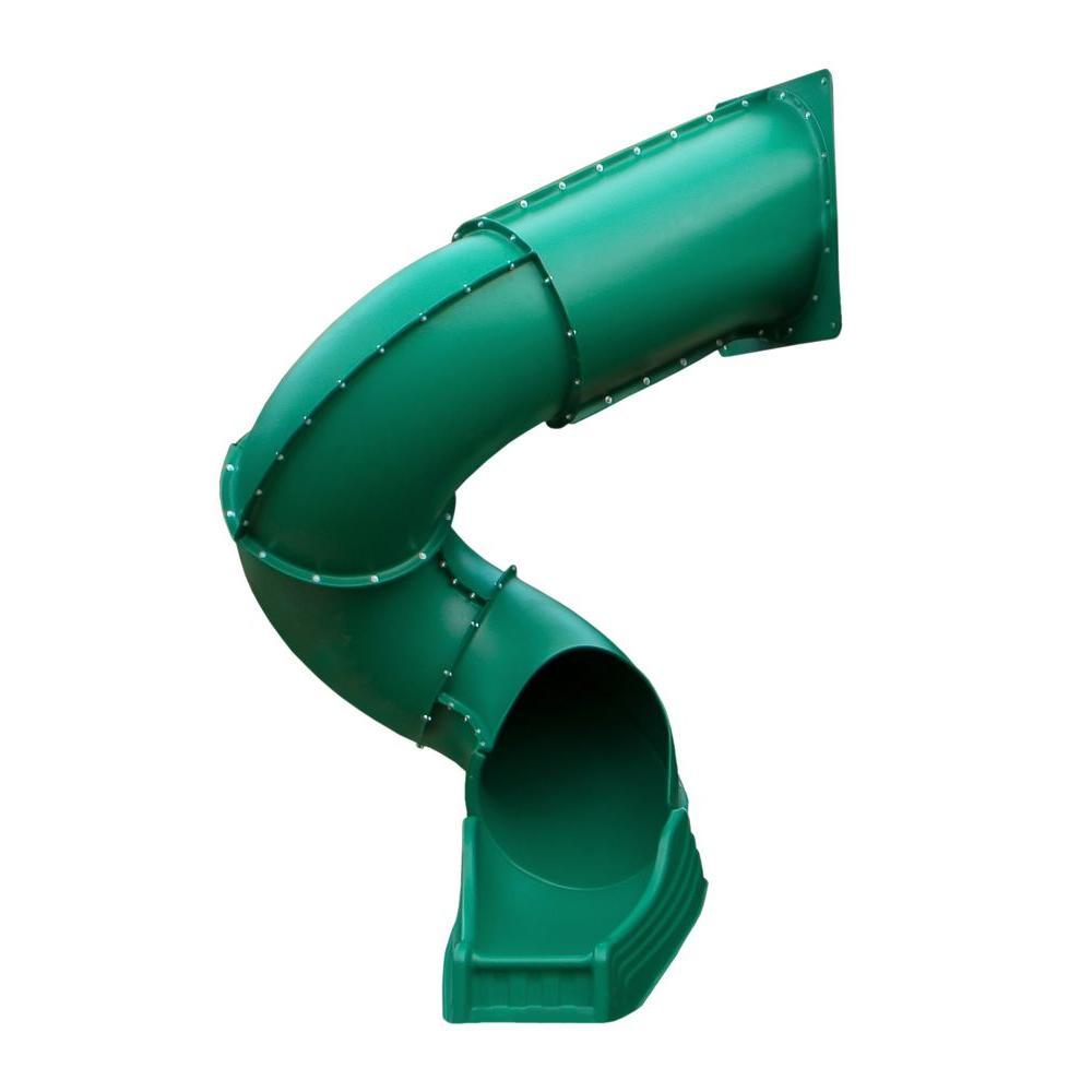 Gorilla Playsets Green Radical Ride Tube Slide (Fits 7 ft. Decks)