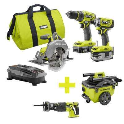 18-Volt ONE+ Lithium-Ion Cordless Brushless Combo Kit (3-Tool) w/Bonus Reciprocating Saw and 6 Gal. Wet/Dry Vacuum