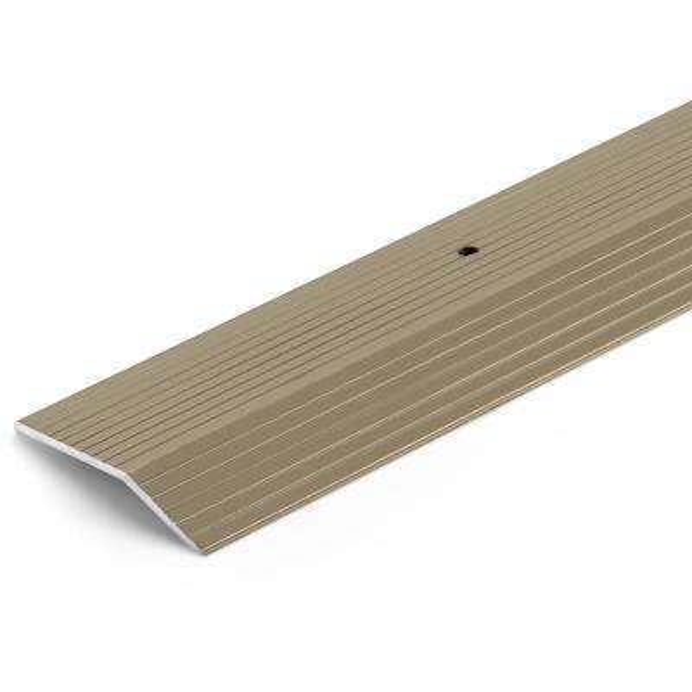 Satin Nickel 2 in. x 144 in. Aluminum Carpet Trim Transition Strip