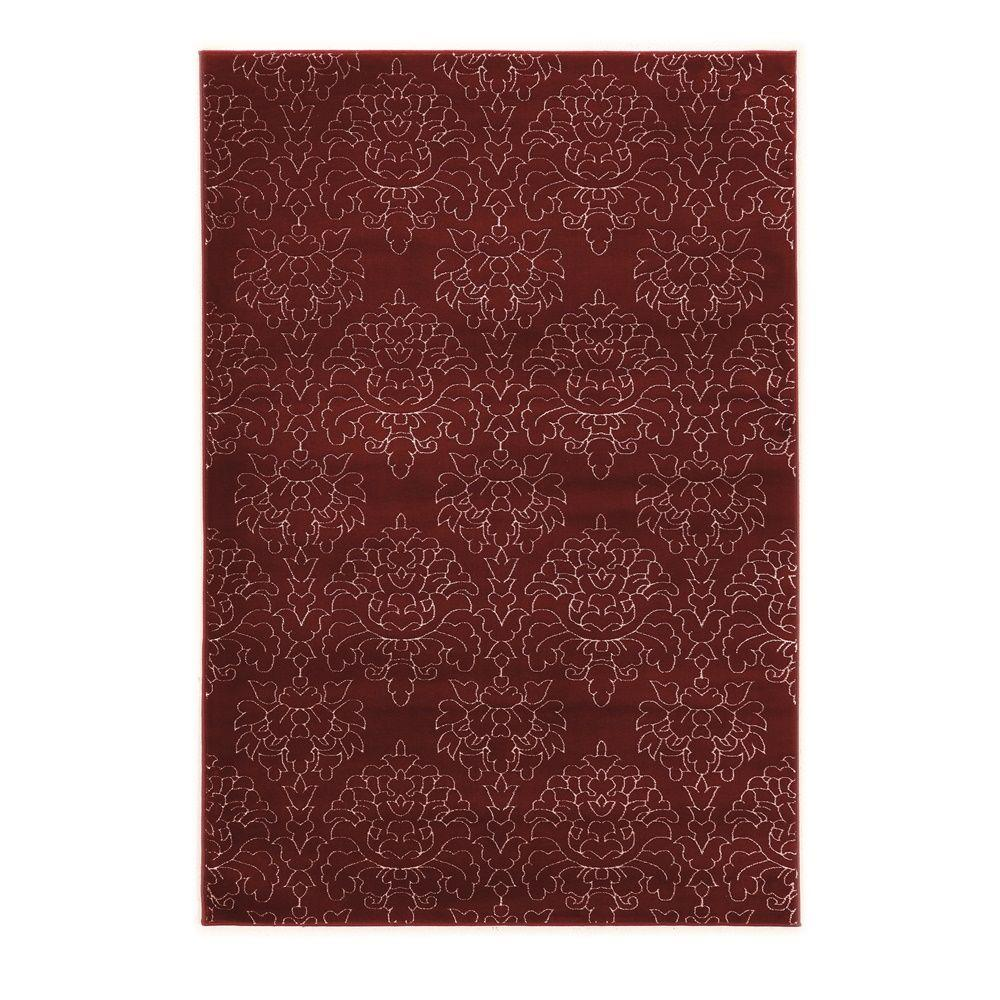 Red And White Checkered Rug: Linon Home Decor Prisma Chloe Red And White 2 Ft. X 3 Ft