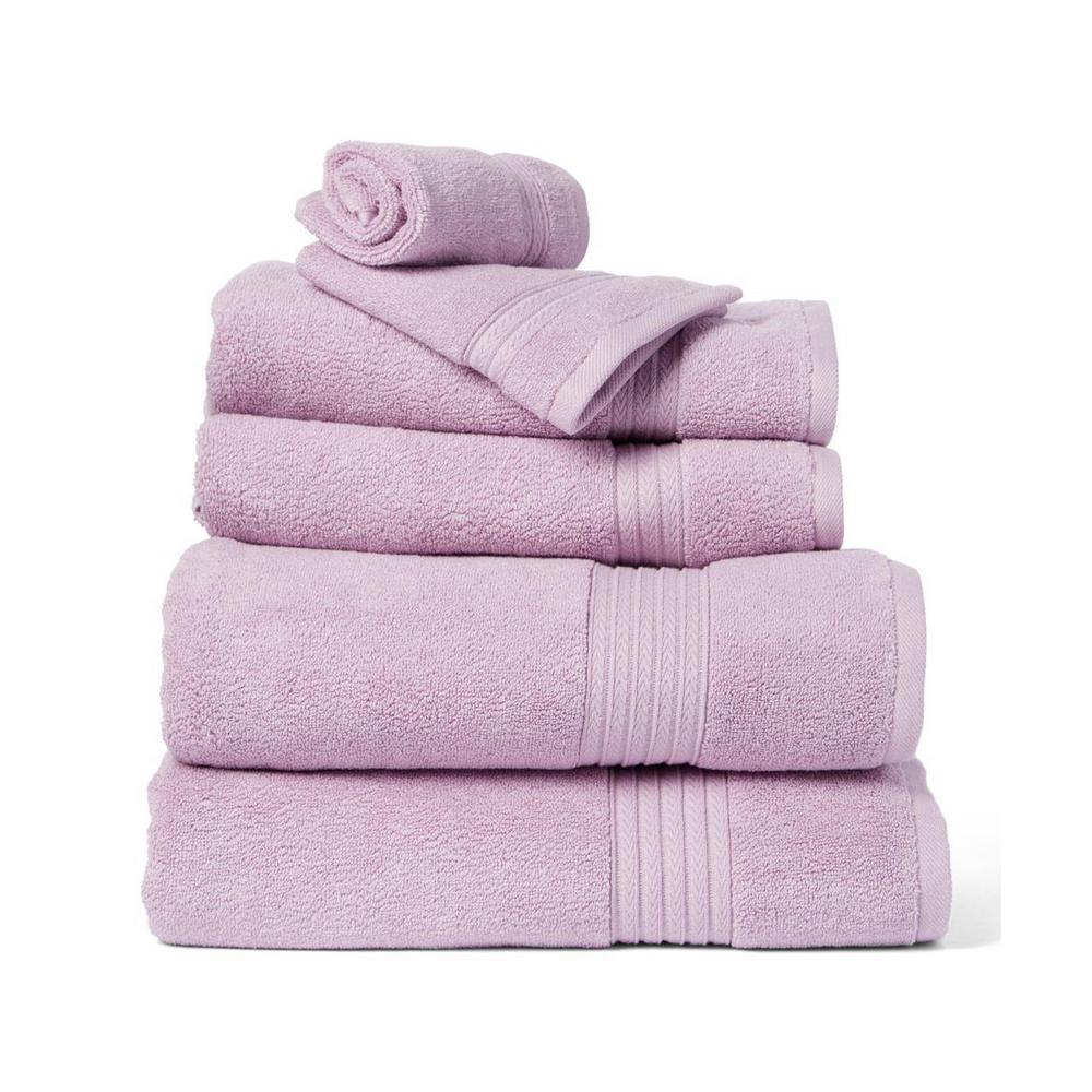 Summit 6-Piece Lavender Solid Cotton Bath Towel Set
