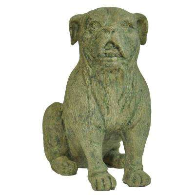 15-1/2 in. H Cast Stone Bulldog Statue In Aged Granite Finish
