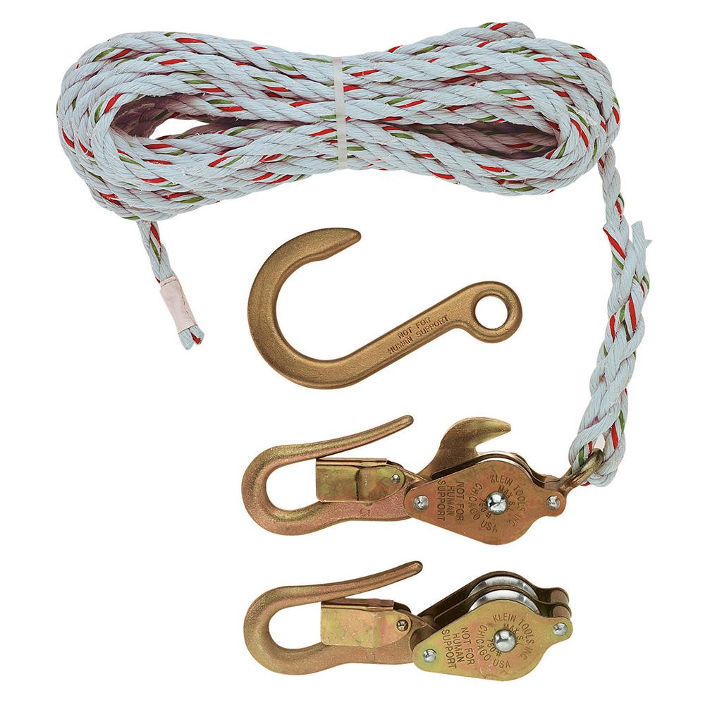 Klein Tools Block and Tackle, Blocks 267/268, Anchor Hook 258