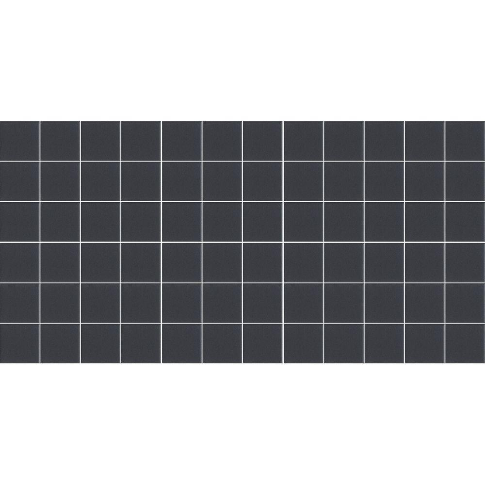 Keystones Unglazed Black 12 in. x 24 in. x 6 mm