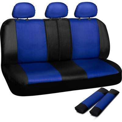 Polyurethane Bench Seat Cover in 21.5 in. L x  23 in. W x 31 in. H  Bench Seat Cover in Blue and Black