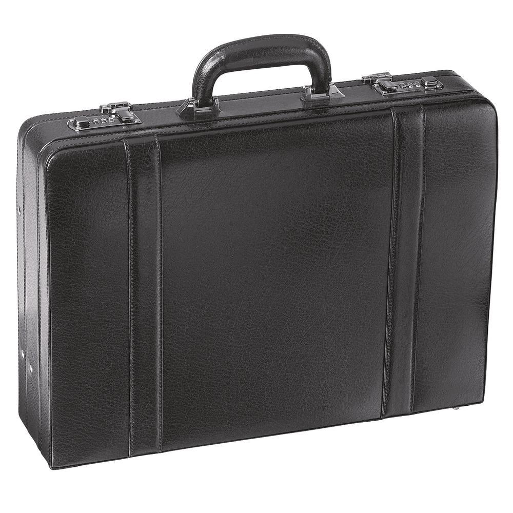 Expandable Black Attache Case for 17.5 in. Laptop