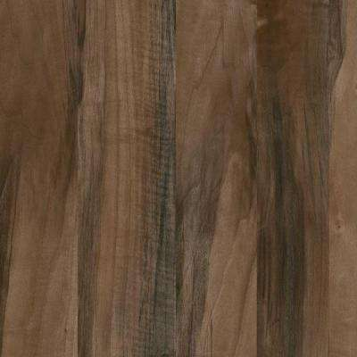 8 in. x 10 in. Laminate Sheet in Planked California Walnut with Virtual Design SoftGrain Finish