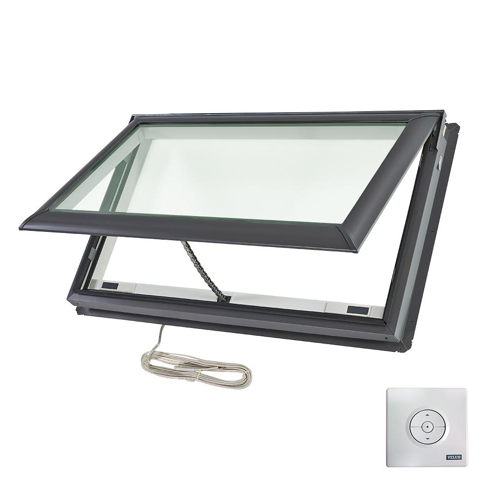 Velux 44 1 4 in x 26 7 8 in fresh air electric venting for Velux fresh air skylight