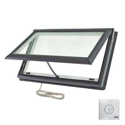 44-1/4 in. x 26-7/8 in. Fresh Air Electric Venting Deck-Mount Skylight with Laminated Low-E3 Glass