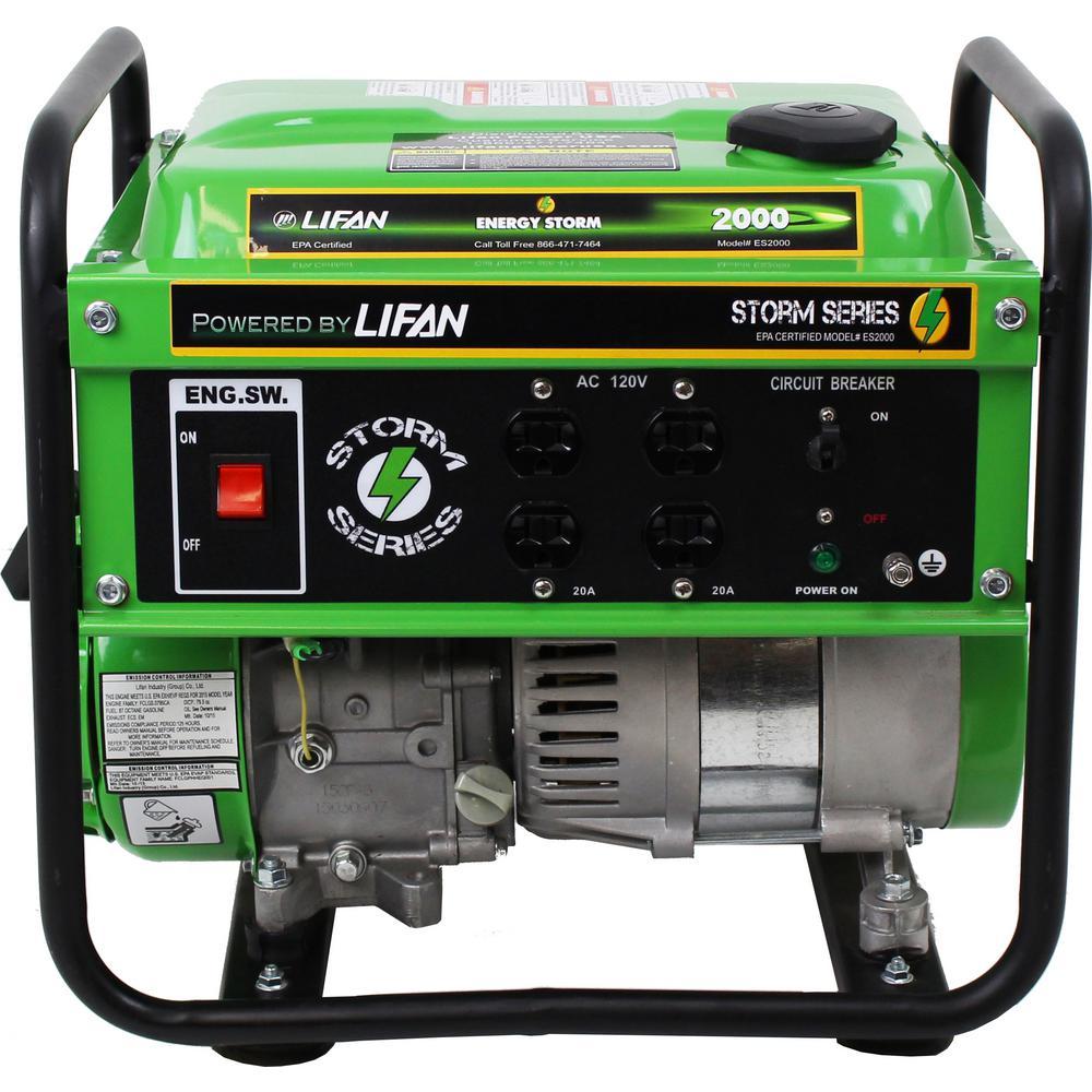 Energy Storm 1,600/1,400-Watt Gasoline Powered 98cc 3 MHP Portable Generator