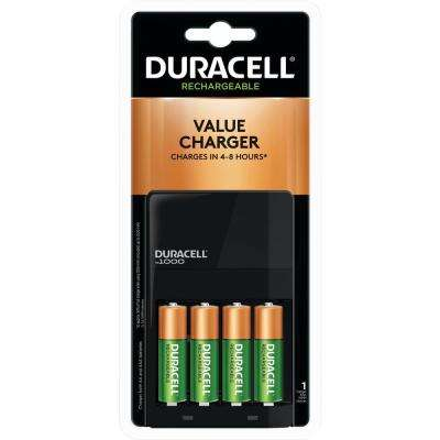 Duracell Car Battery Review >> Coppertop Alkaline Aa Battery Charger With 4 Aa Rechargeable Batteries Included