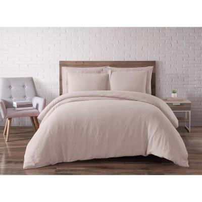 Linen Blush King Duvet Set
