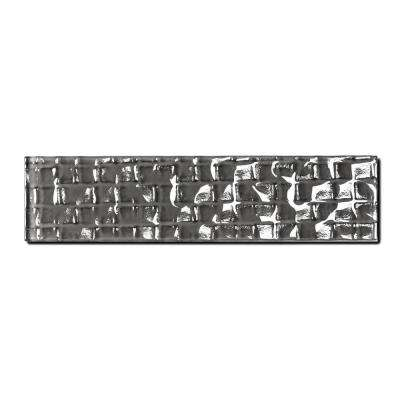 Metro Cubes Urbansphere Dark Gray 2 in. x 8 in. Glass Wall Tile (1 sq. ft. / pack)