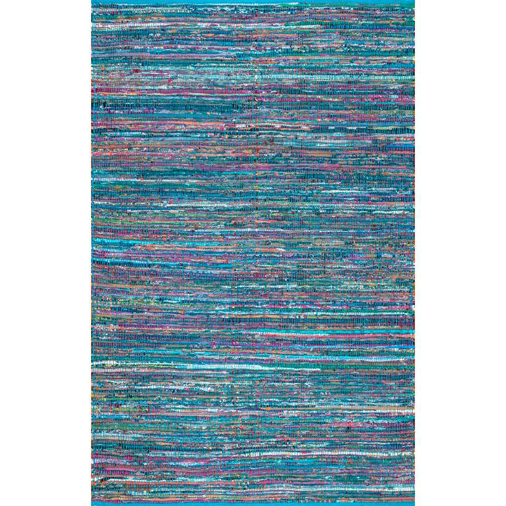 Nuloom Sabina Stripes Blue 4 Ft X 6 Area Rug