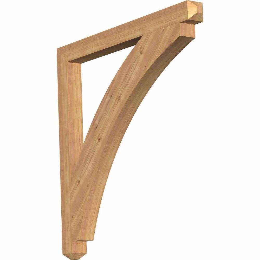 Ekena Millwork 3.5 in. x 44 in. x 44 in. Western Red Cedar Thorton Craftsman Smooth Bracket