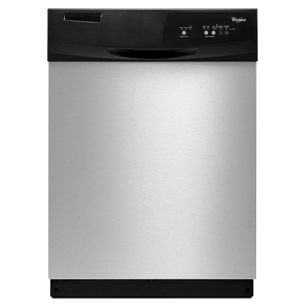 Whirlpool Front Control Dishwasher in Stainless Steel