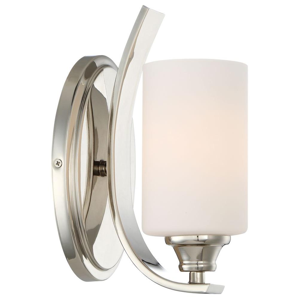 and sconce wall light nickel polished latham glass h seeded