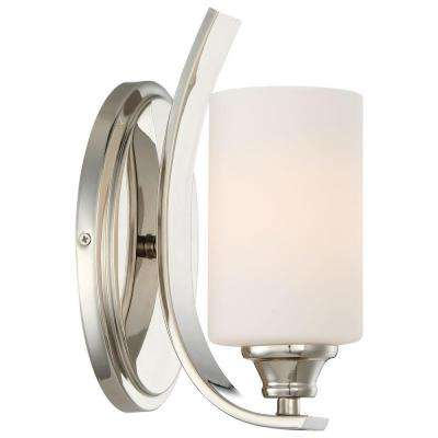Tilbury 1-Light Polished Nickel Sconce