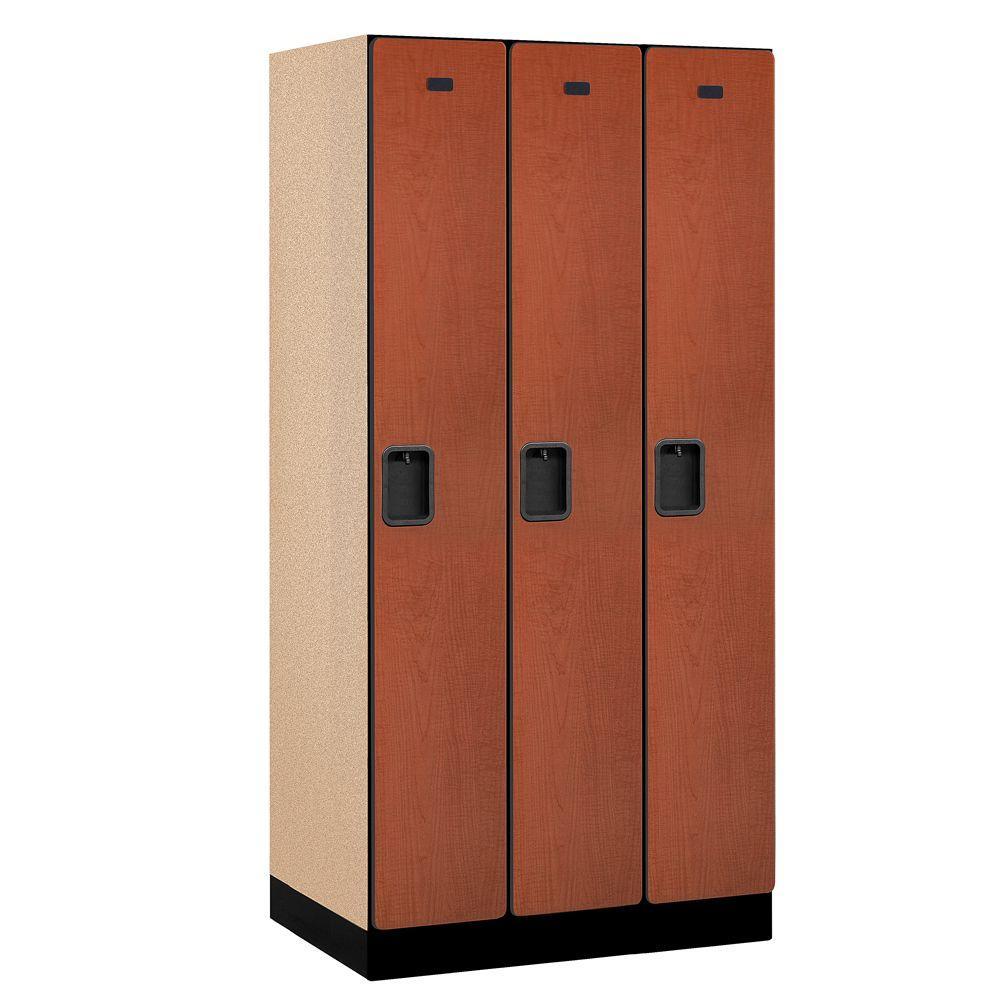 Salsbury Industries 31000 Series 36 in. W x 76 in. H x 21 in. D Single Tier Designer Wood Locker in Cherry