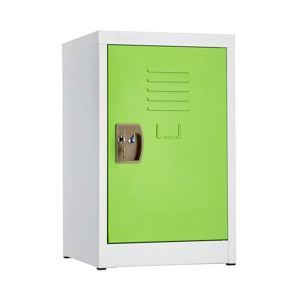 24 in. H x 15 in. W Steel Single Tier Locker in Green
