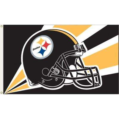 3 ft. x 5 ft. Polyester Pittsburgh Steelers Flag