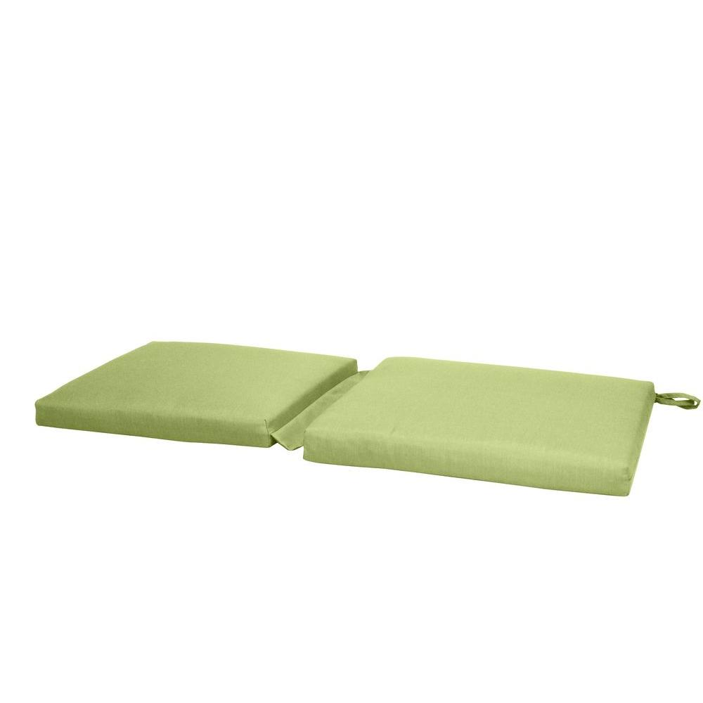 Paradise Cushions Green Solid 1-Piece Hinged Outdoor Bench Cushion