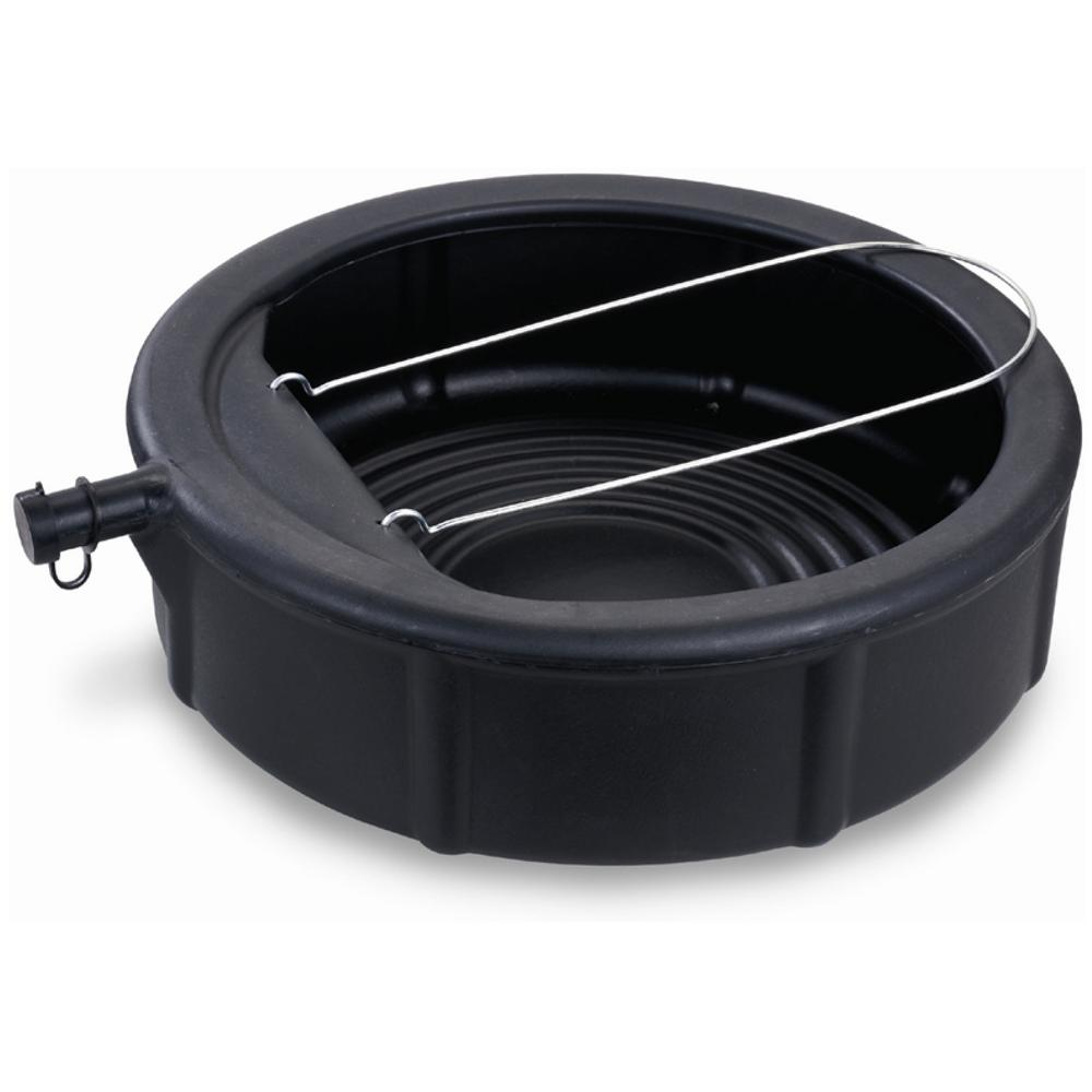 Lumax 5 Gal Capacity Plastic Drain Pan With Wire Loop Lx