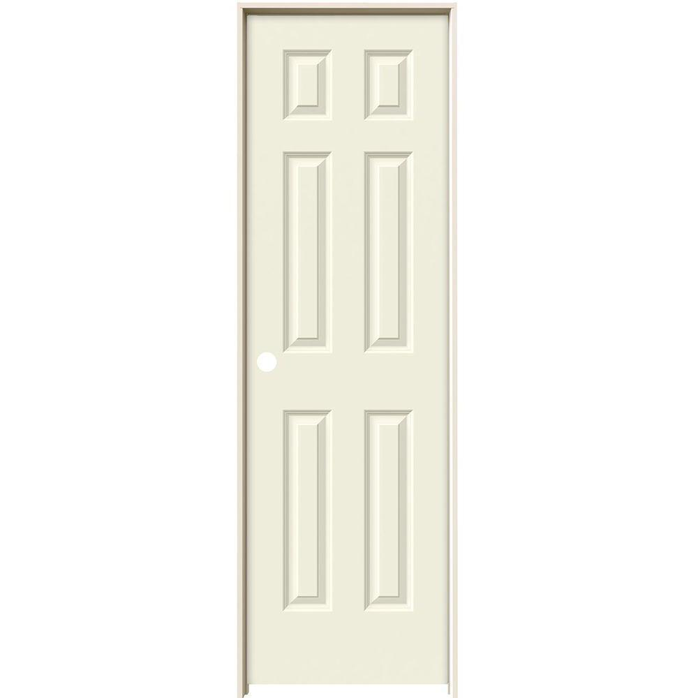 24 in. x 80 in. Colonist Vanilla Painted Right-Hand Smooth Solid