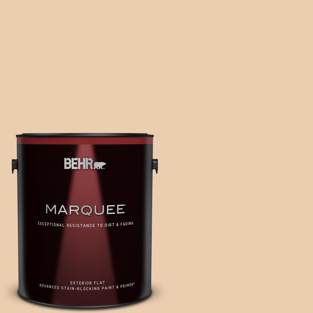 Behr Marquee 1 Gal Bxc 64 Shortbread Cookie Flat Exterior Paint Primer 445001 The Home Depot