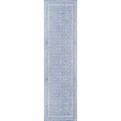 Afshar Blue 2 ft. 3 in. x 7 ft. 6 in. Indoor Runner Rug