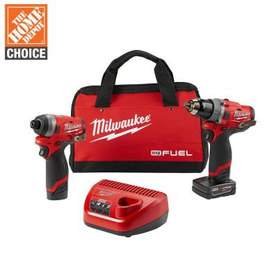 M12 FUEL 12-Volt Lithium-Ion Brushless Cordless Hammer Drill and Impact Driver Combo Kit (2-Tool) w/ 2 Batteries and Bag