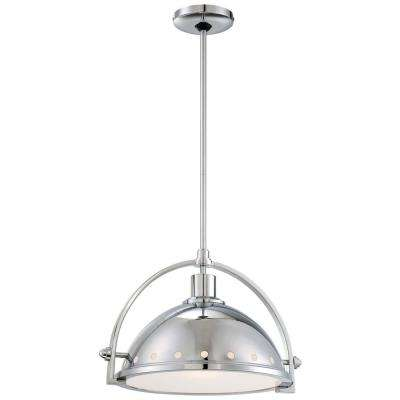 Chrome minka lavery pendant lights lighting the home depot 1 light chrome pendant aloadofball Gallery
