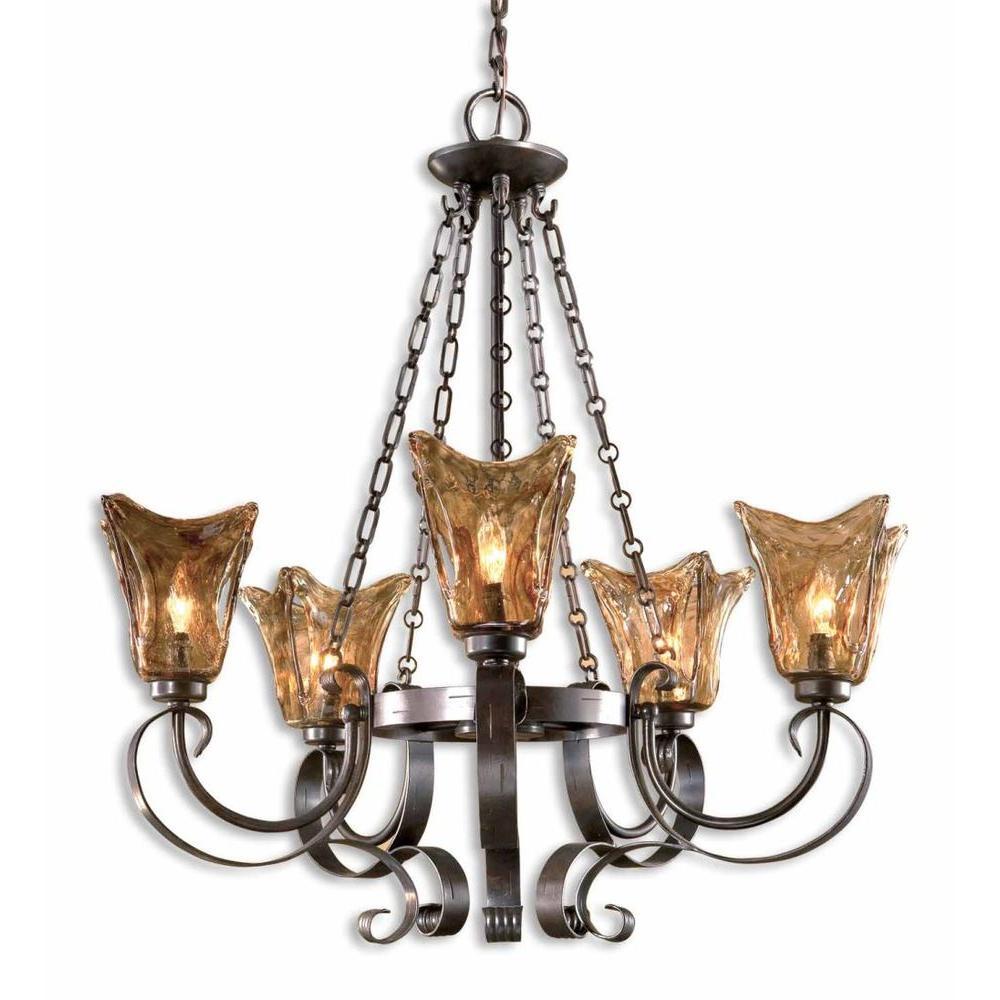 Vetraio 5-Light Bronze Chandelier