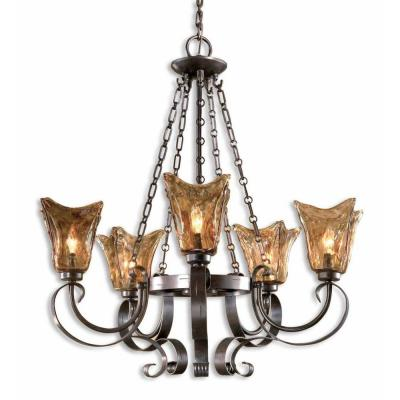 Vetraio 5-Light Bronze Chandelier