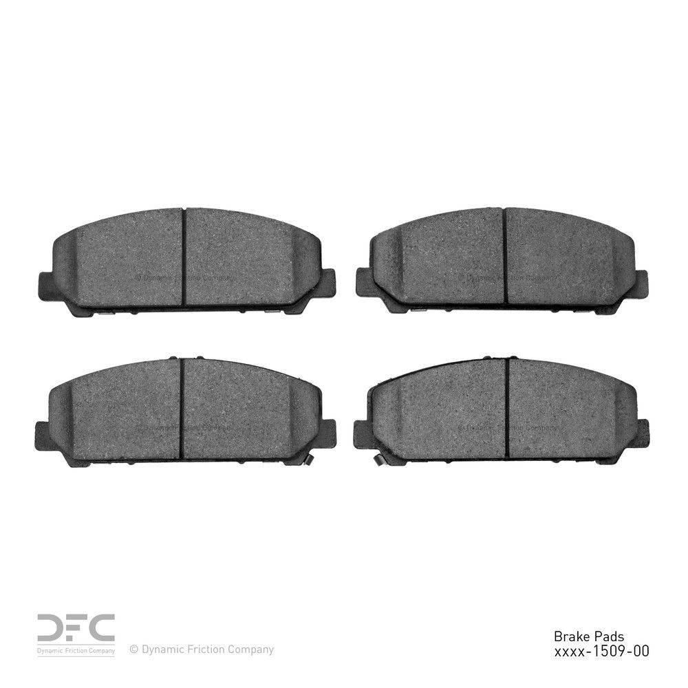 Dynamic Friction Company Dfc 5000 Advanced Brake Pads Ceramic 1551 1509 00 The Home Depot