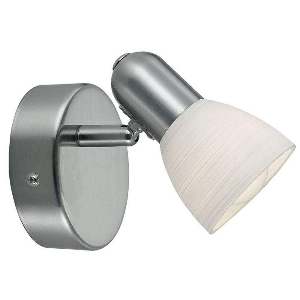 Eglo Dakar 1-1-Light Matte Nickel Wall Light