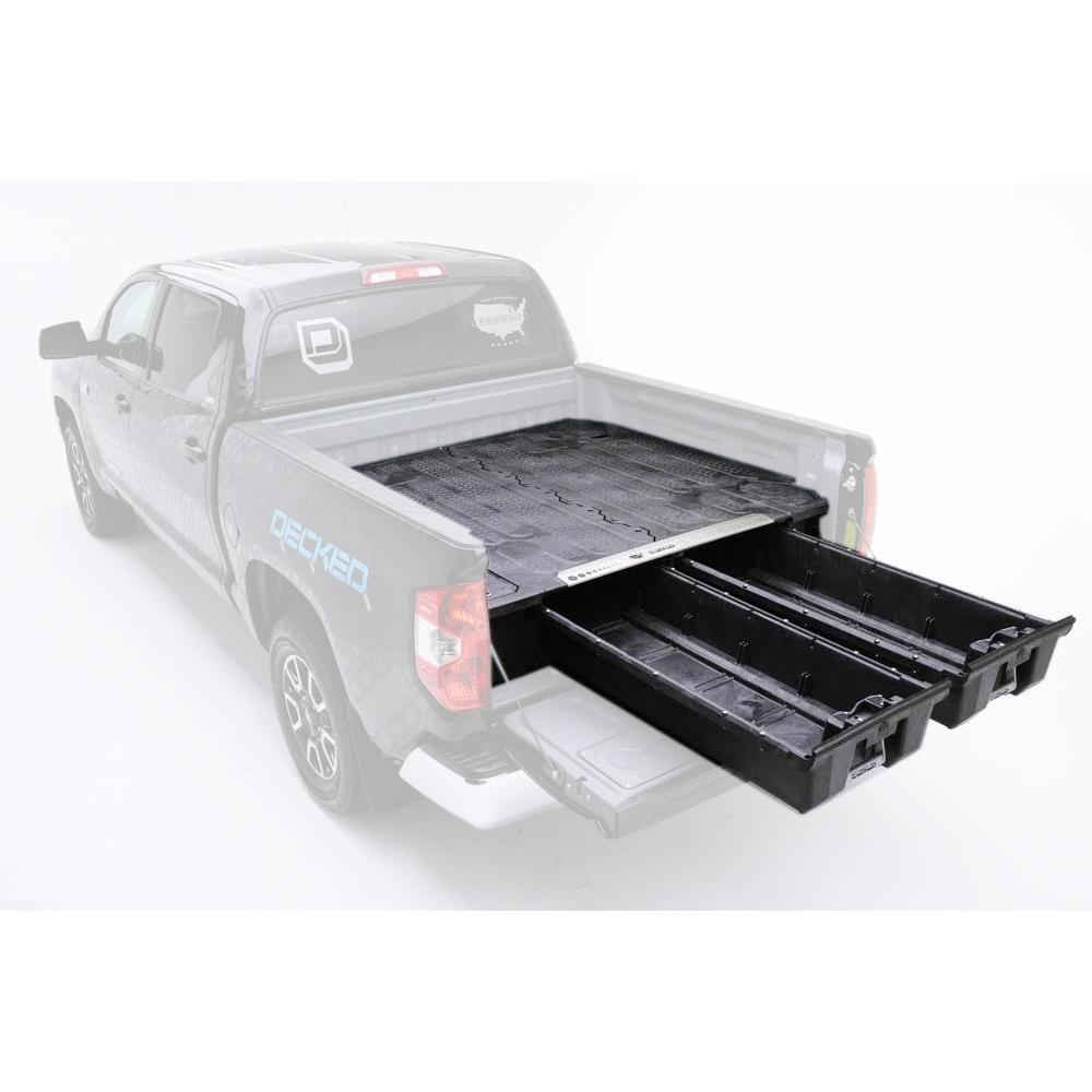 Decked 5 Ft 7 In Bed Length Pick Up Truck Storage System For Dodge Ram 2005 Silver 1500 Hemi Nissan Frontier Current