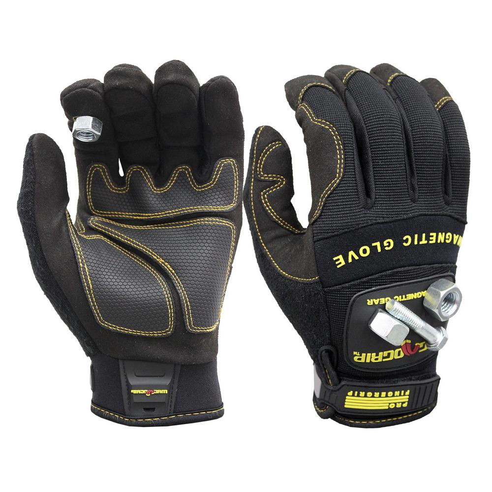 Pro FingerGrip Large Magnetic Glove with Touch-Screen