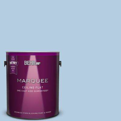 1 gal. #PPU14-14 Tinted to Crystal Waters Flat Interior Ceiling Paint and Primer in One