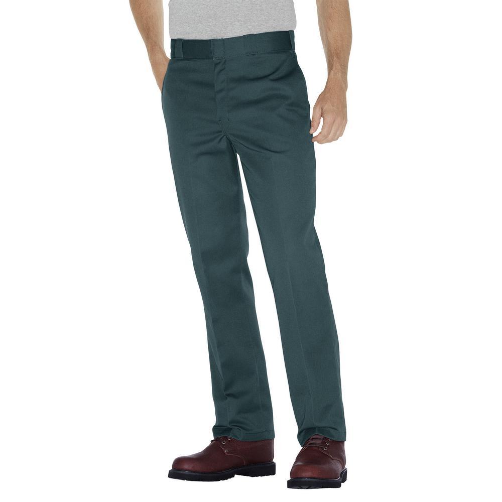 Original 874 Men 34 in. x 32 in. Lincoln Green Work Pant